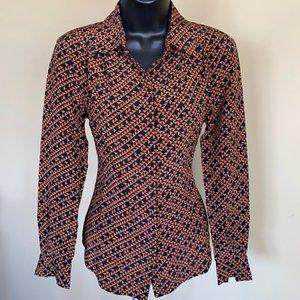 Trina Turk 100% Silk Button Blouse - Size PS